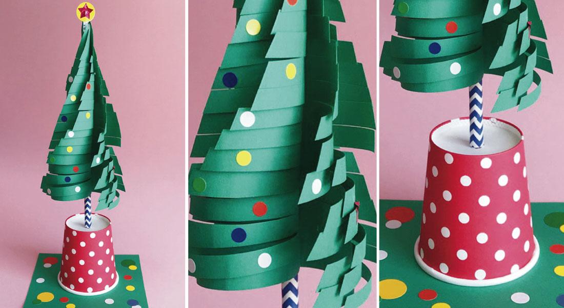 12月[師走・DECEMBER]/くるくるクリスマスツリーをつくろう!